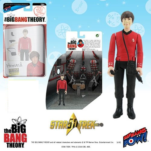 Bif Bang Pow Big Bang Theory Howard Star Trek Figure
